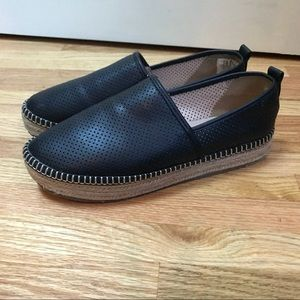 a.M Perforated Faux Leather Espadrilles 8